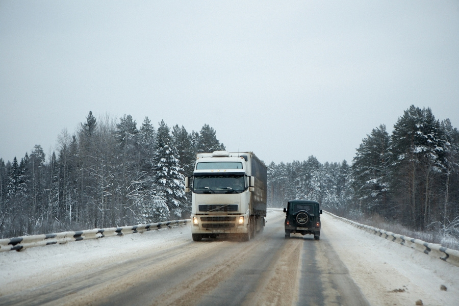 Дорога в Костромской обла
