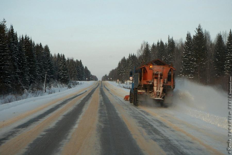 После обильных снегопадов дорожные службы круглосуточно чистят снег. Надо отдать им должное, все основные дороги к нашему приезду были уже почищены и со снегом у нас проблем пока нет.