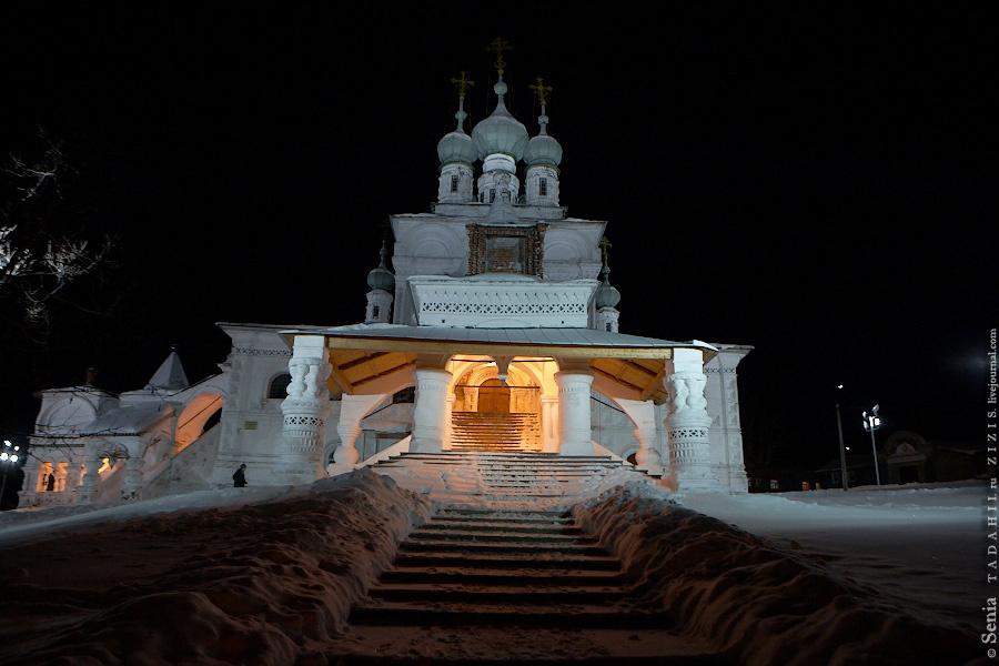 Сегодня мы второй день ночуем в Соликамске, однако города практически не видели. Этот день начался задолго до рассвета на Соборной площади. Было очень холодно :)