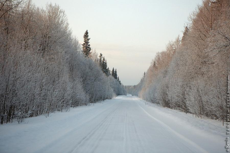 Вот такие у нас замечательные дороги. Но это пока. Завтра едем на север, там с дорогами проблемы, а на юге проблемы с их чисткой. Так говорят.