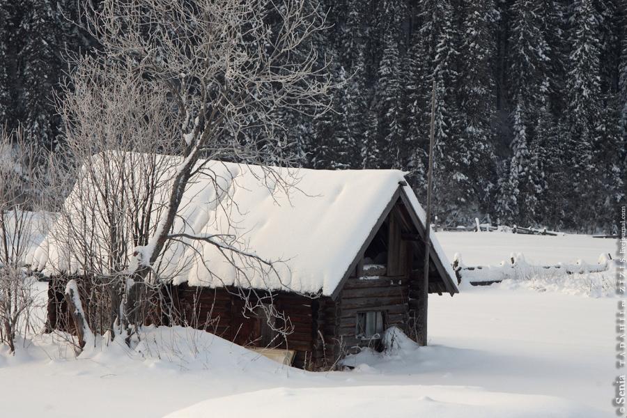 Пообщались с местным жителем, заливающим ледянку для своей внучки и ее друзей. Он посетовал, что раньше село было больше, река полнее. Однако молодежь почти вся разъехалась, а из-за вырубки леса и река стала мелеть. Действительно, кругом одни лесовозы.