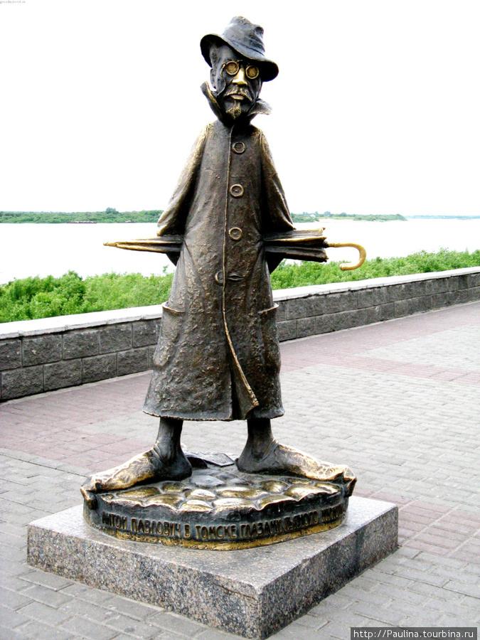 Памятник «Антону Павловичу в Томске глазами пьяного мужика, лежащего в канаве и ни разу не читавшего Каштанку»!