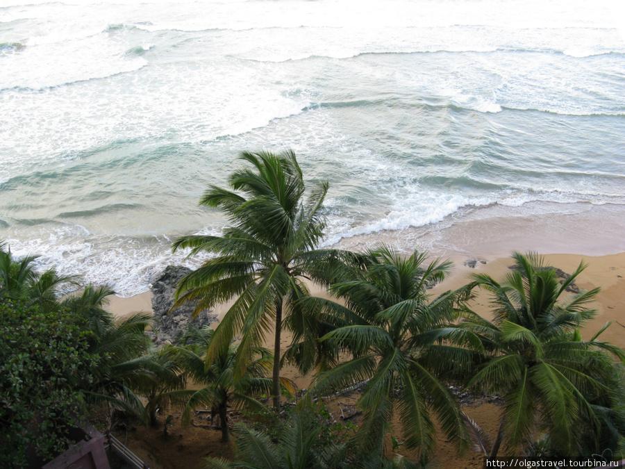А из нашего окошка океан видно немножко. Лукильо, Пуэрто-Рико (США)