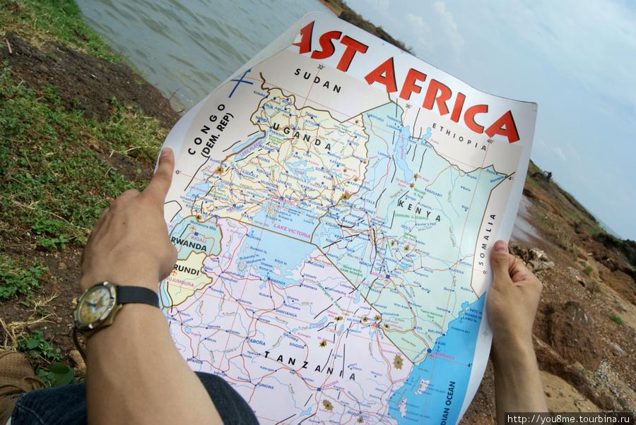 карта Восточной Африки