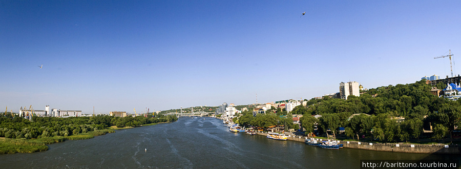 Вид на Ростов на Дону с моста