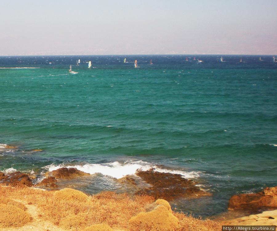 Греческий остров виндсерферов