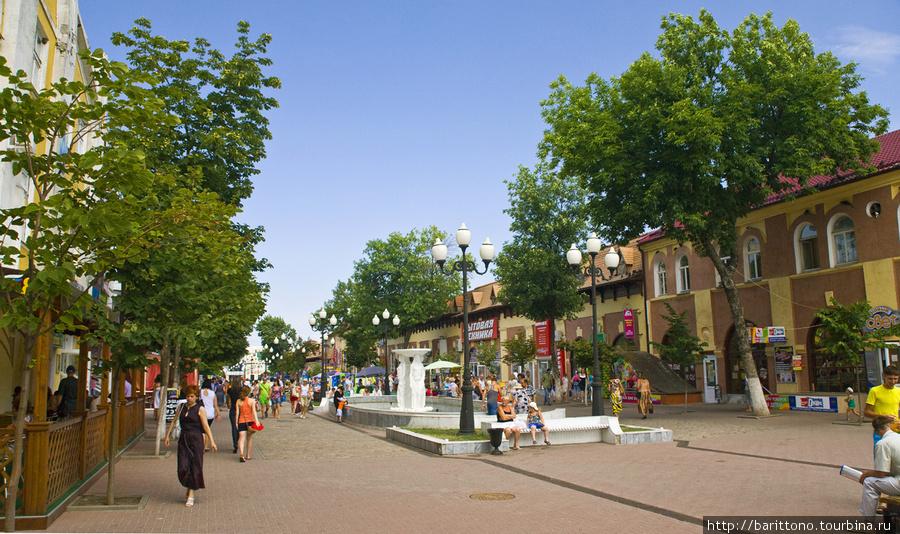 Пешеходная улица Ейска