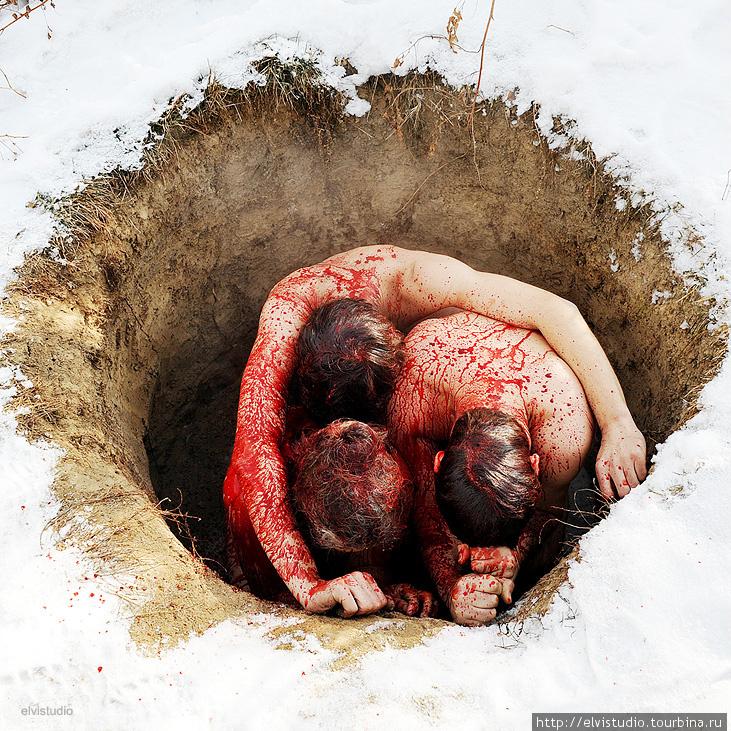 После того, как первый барашек отдал всю свою кровь, готовится второй.