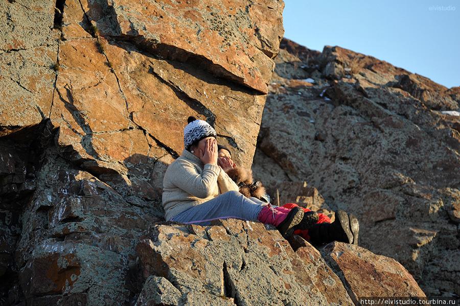 Молитва на священной скале.