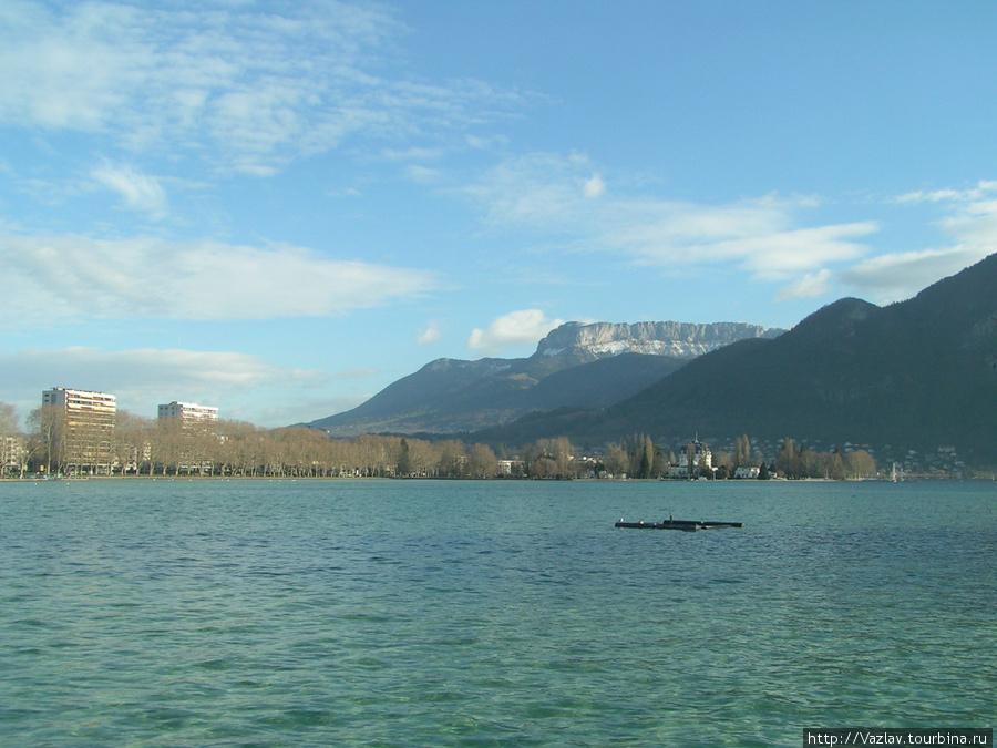 Вид на озеро из парка