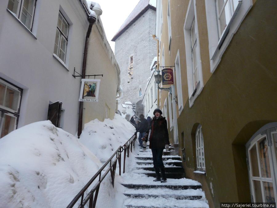 Таллиннские улочки  и лестницы манят...