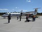 De Havilland DHC-8. полуторачасовой рейс. 4ый по счету.   Из