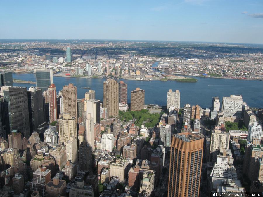 Нью-Йорк с обзорной площадки Empire State Building