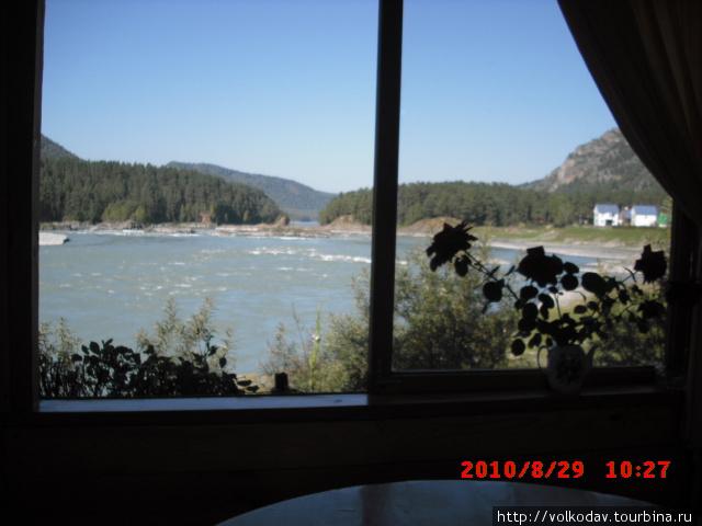 Вид из окон дома на р. Катунь