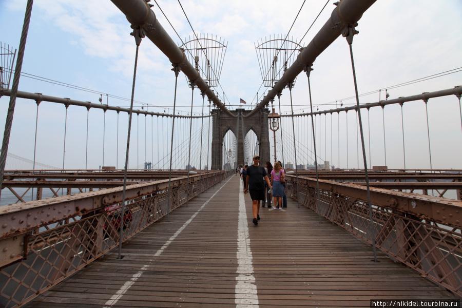 пешеходная зона Бруклинского моста