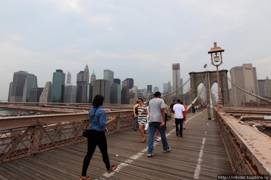 вид с моста на Манхэттен