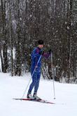 Лыжник в парке