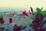 В октябре на пляже