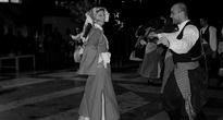 Под Новый год очень задорно выступили местные танцоры