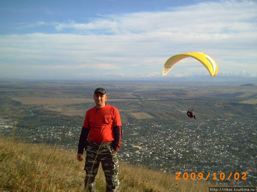 На горе Машук, внизу Пятигорск. Фотка не из этого похода, просто вид понравился.