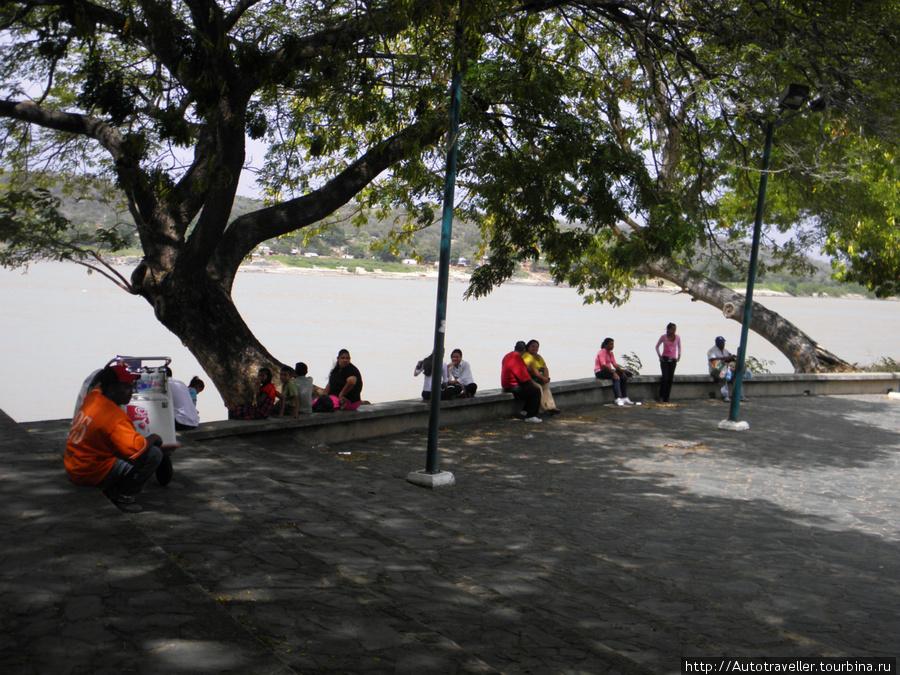 Naberejnaya reki Orinoko v Sú´dat Bolivare, Venesuela.