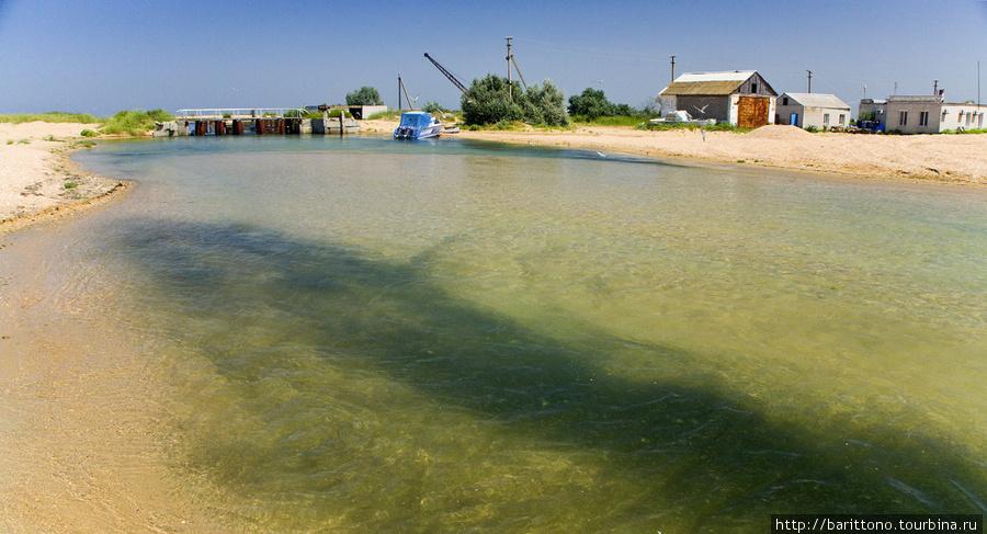 Канал между Черным морем и Кизилташским лиманом.