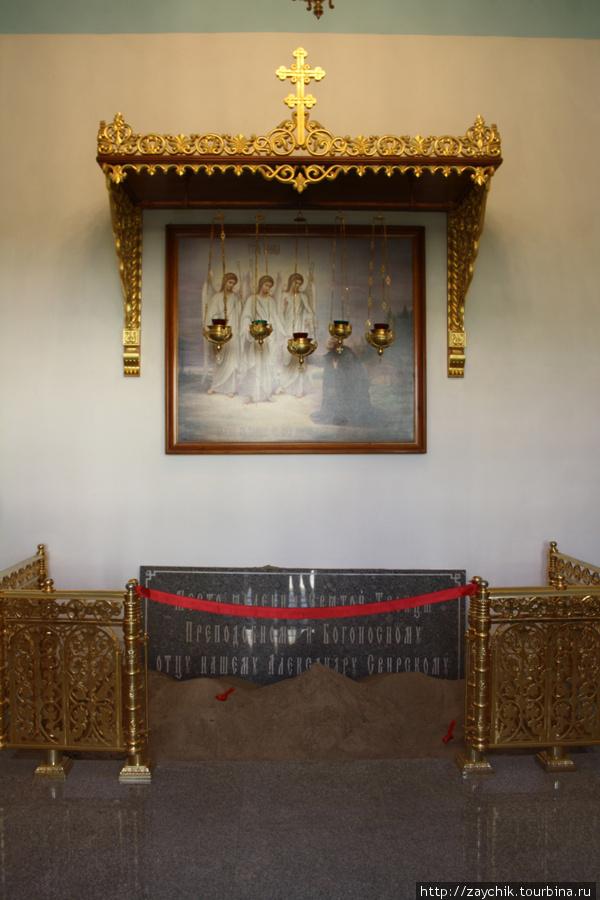 Место, где Александру Свирскому явилась Троица.
