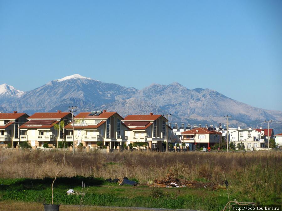 В в этих таунхаусах вы можете прикупить апартаменты. деревца в горшках на переднем плане будут посажены в парке им. Ататюрка.