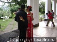 Буддийская свадьба. Они часто празднуют свадьбы в отелях