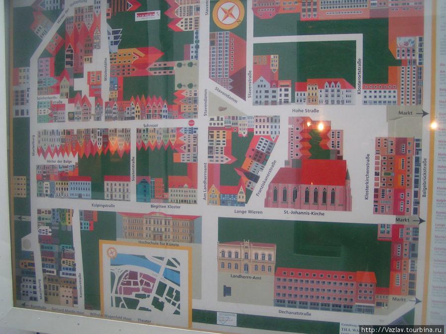 Схема квартала
