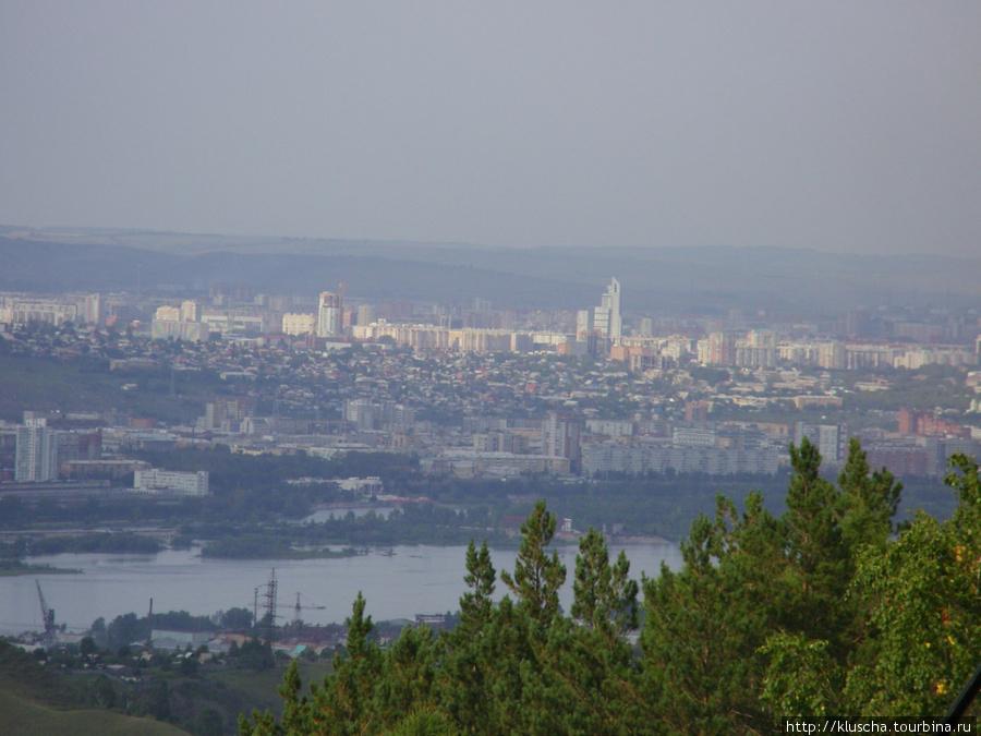 Вид на г.Красноярск со смотровой площадки фан-парка