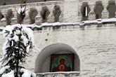 Икона в монастырской стене