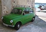 Застава — югославская машина 60-х в Шибенике.