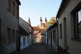 Мощеные улочки, одноэтажные домики и замок — это и есть старый Телч