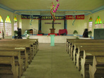 Внутренность церкви, где я ночевал