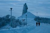Дальше мы отправились на смотровую площадку к «Алеше» — мемориальному комплексу «Защитникам Советского Заполярья в годы Великой Отечественной войны».