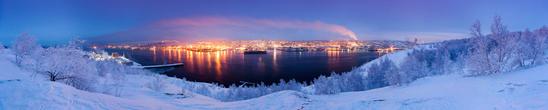 Панорама вечернего Мурманска.