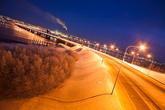 Четырёхполосный автомобильный мост через Кольский залив является одним из длиннейших в России и самым длинным автомобильным мостом за Полярным кругом.