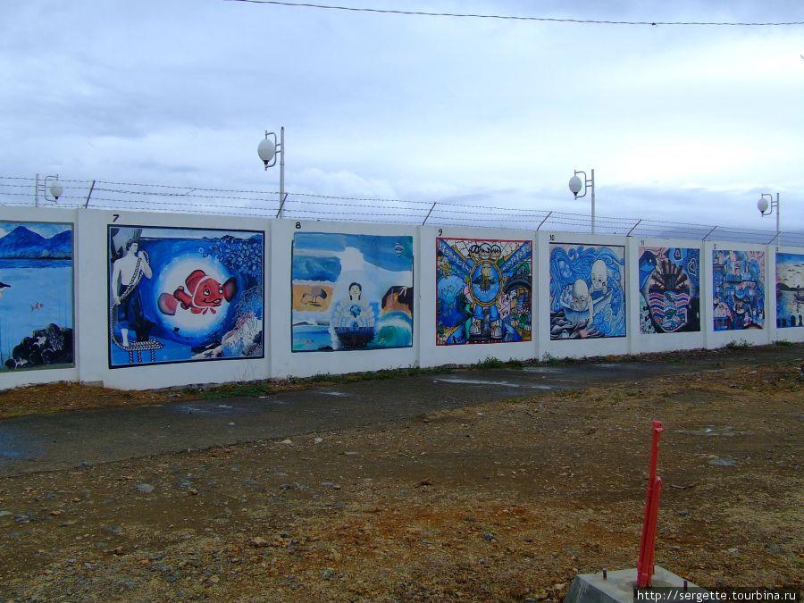 Графити на набережной