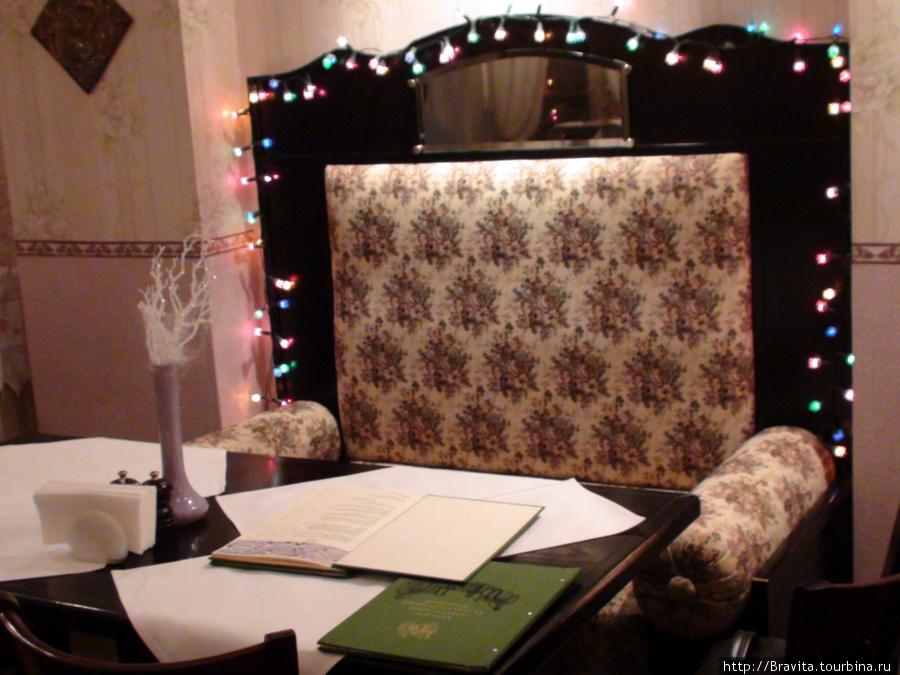 Столик и меню