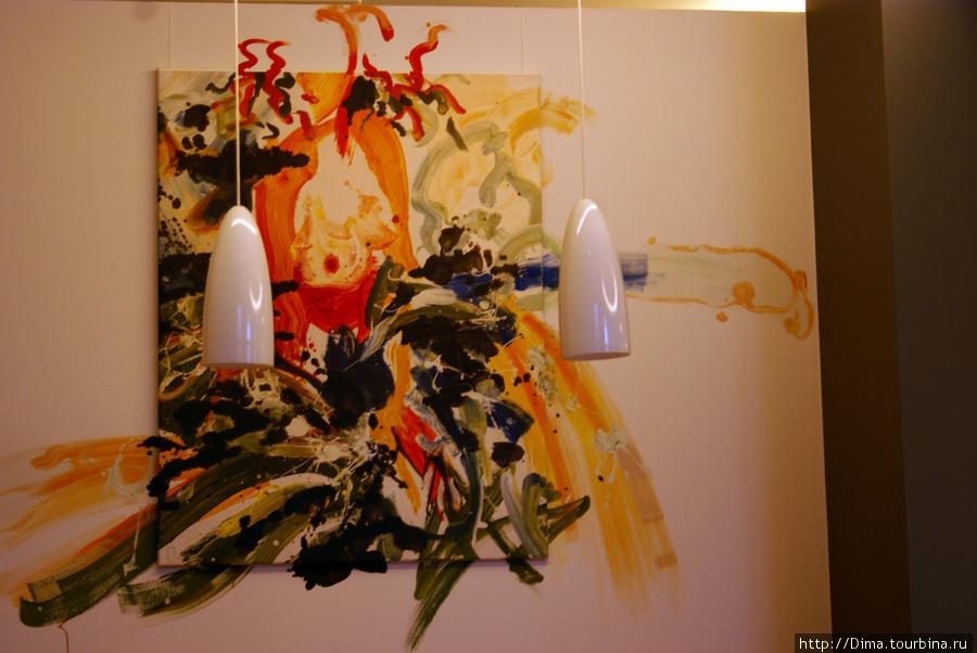 Рисунок на стене.