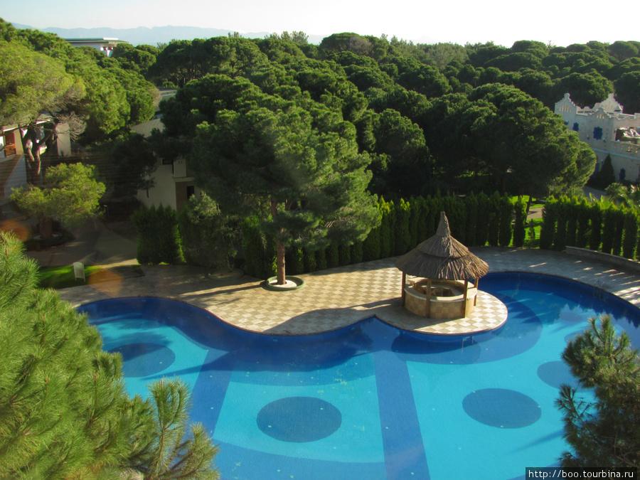 вид с балкона на relax бассейн (для отдыха взрослых)