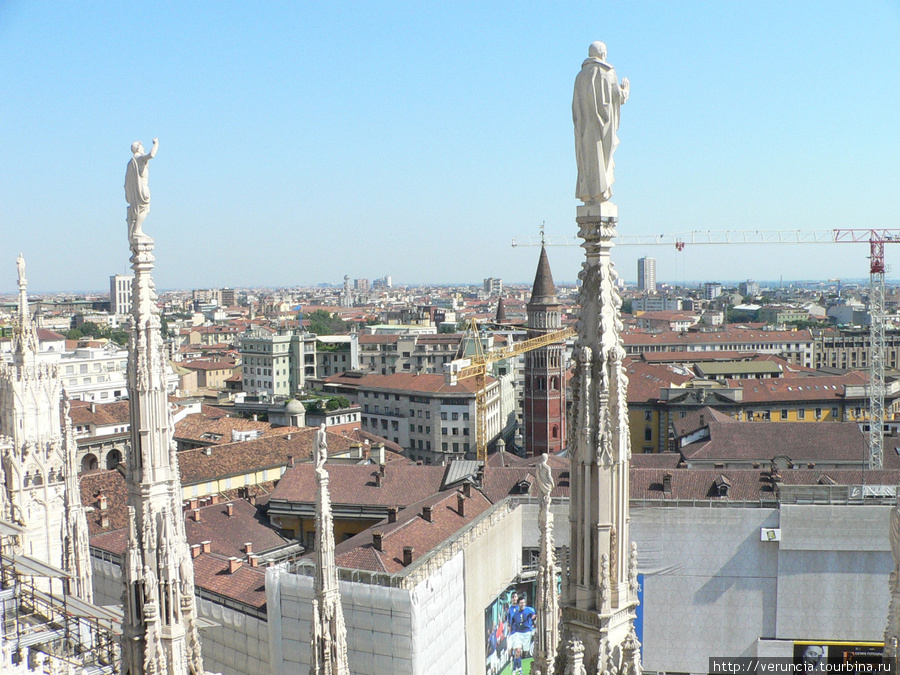 Крыши Милана с высоты кафедрального собора.