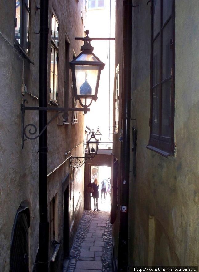 Самая узкая улочка Стокгольма