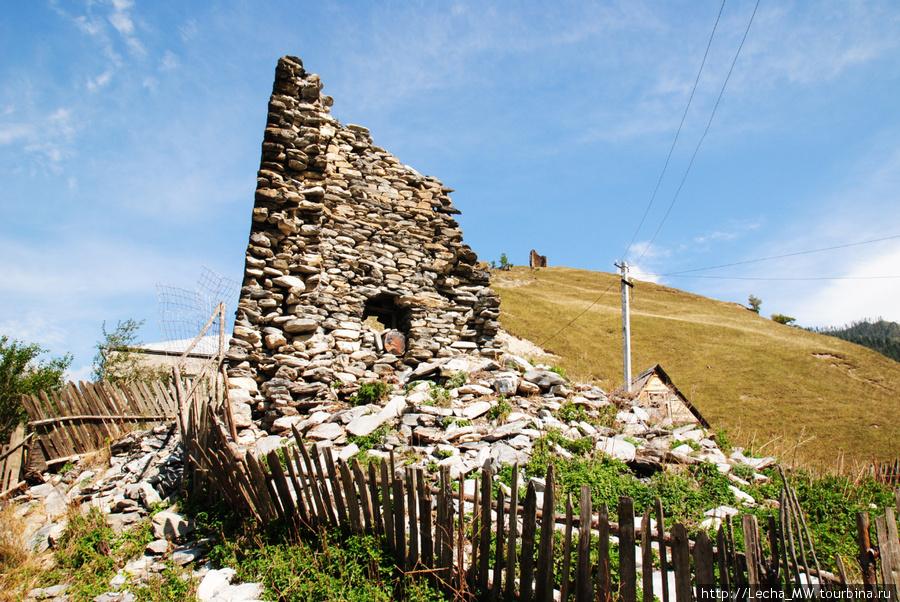 Башня Плиевых в селении Нижний Рук