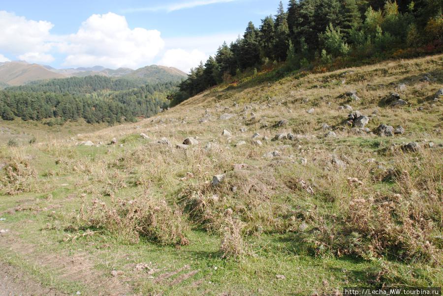 Царциатский холм около селения Едыс
