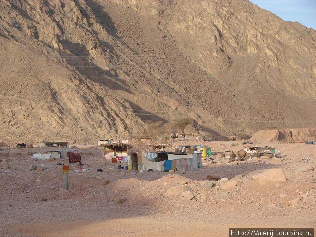 Поселок кочевников — бедуинов