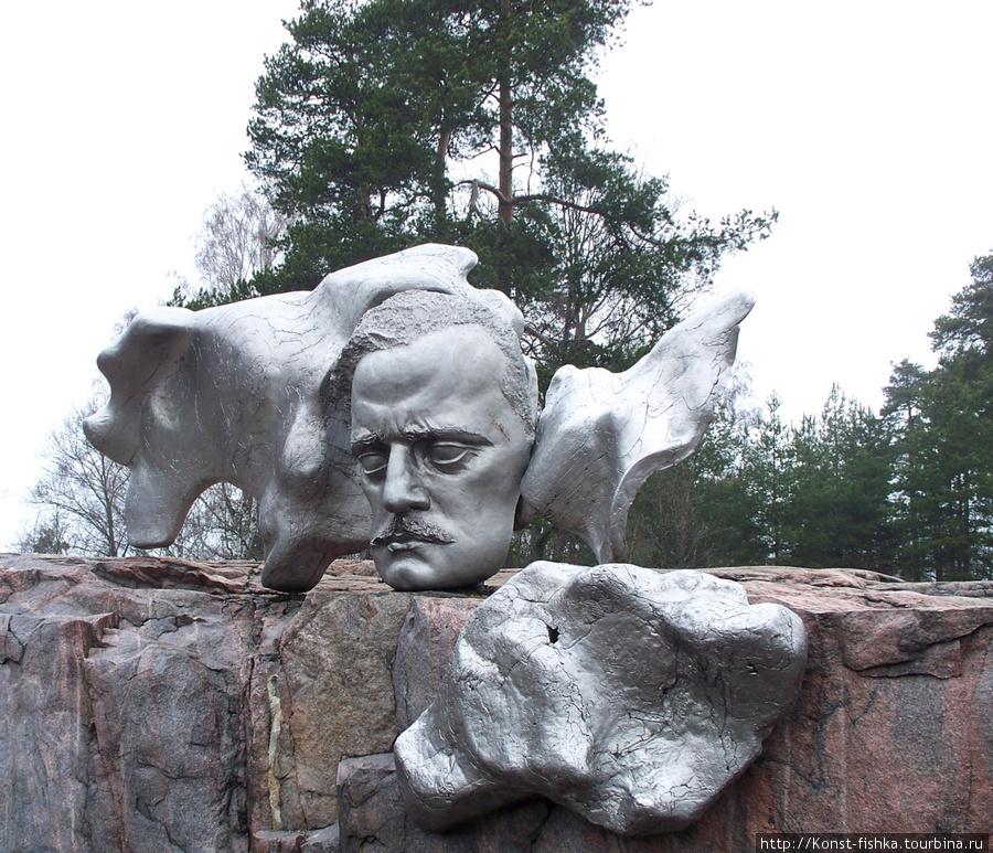 Фрагмент памятника композитору Я.Сибелиусу.
