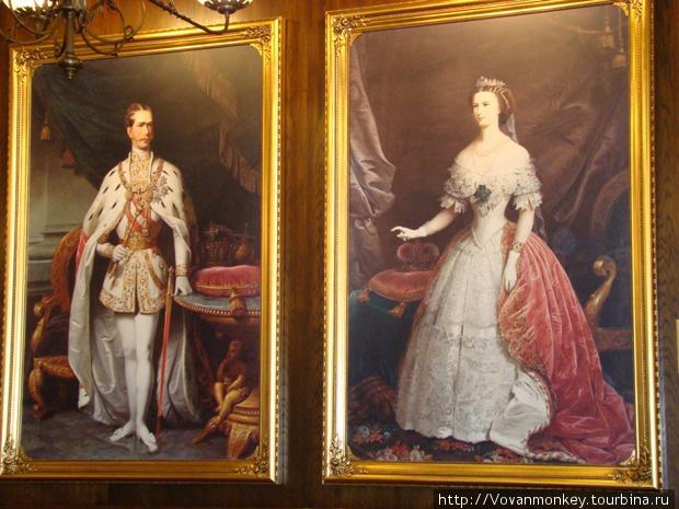 Элемент украшения интерьера — картины: Император Австро-Венгрии Франц-Иосиф и императрица Елизавета (Сисси)