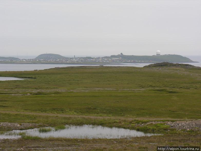 Город Вардё расположен на острове